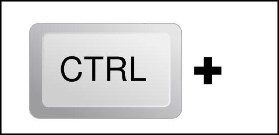 клавишу «Ctrl»